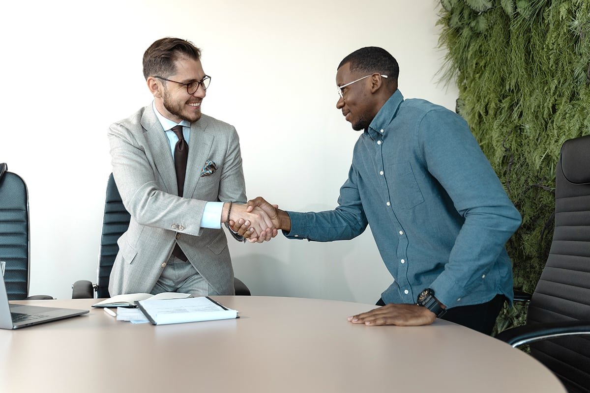 Graduate interviewing for new career